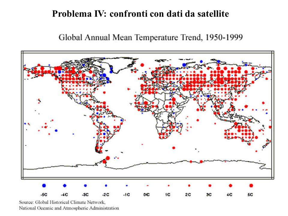 Problema IV: confronti con dati da satellite