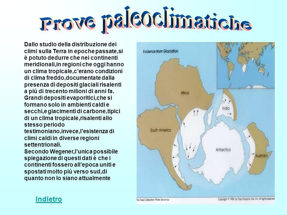 Dallo studio della distribuzione dei climi sulla Terra in epoche passate,si è potuto dedurre che nei continenti meridionali,in regioni che oggi hanno