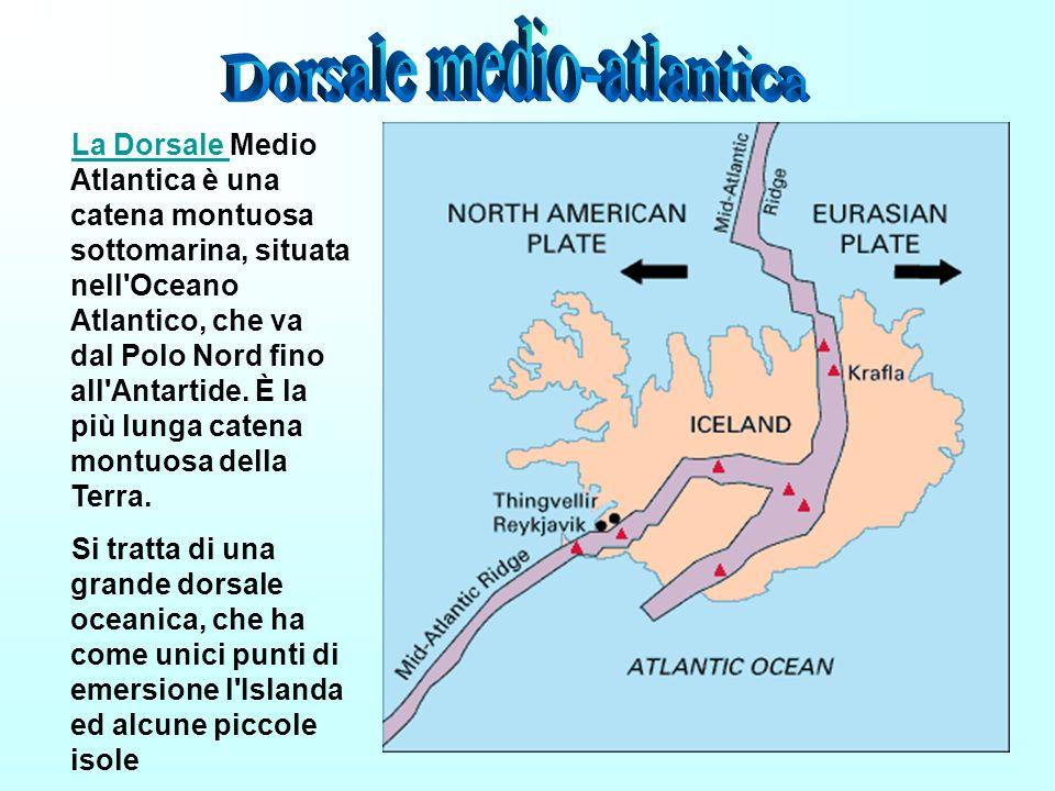 La Dorsale Medio Atlantica è una catena montuosa sottomarina, situata nell'Oceano Atlantico, che va dal Polo Nord fino all'Antartide. È la più lunga c