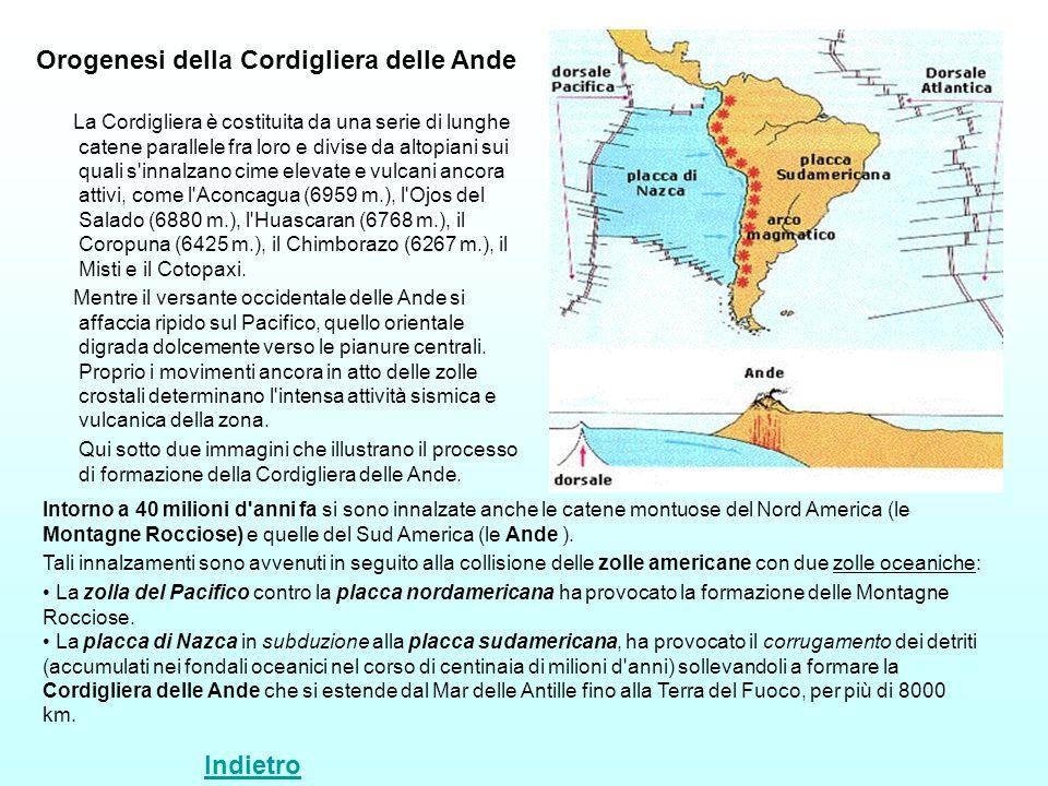 La Cordigliera è costituita da una serie di lunghe catene parallele fra loro e divise da altopiani sui quali s'innalzano cime elevate e vulcani ancora