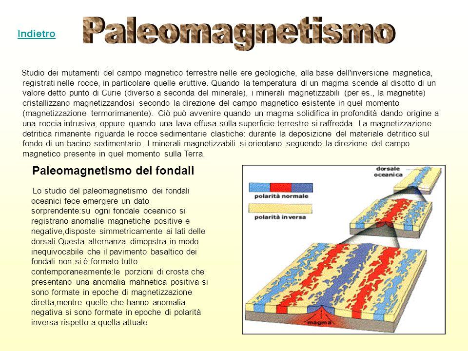 Studio dei mutamenti del campo magnetico terrestre nelle ere geologiche, alla base dell'inversione magnetica, registrati nelle rocce, in particolare q