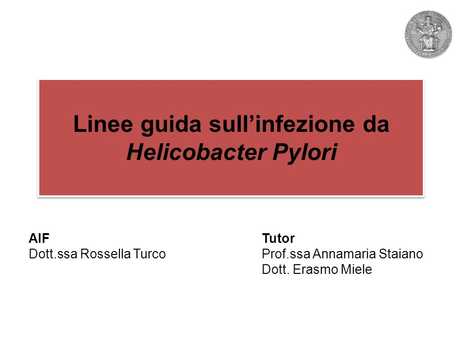 Whats the story H pylori .Giulio Bizzozero, Arch.