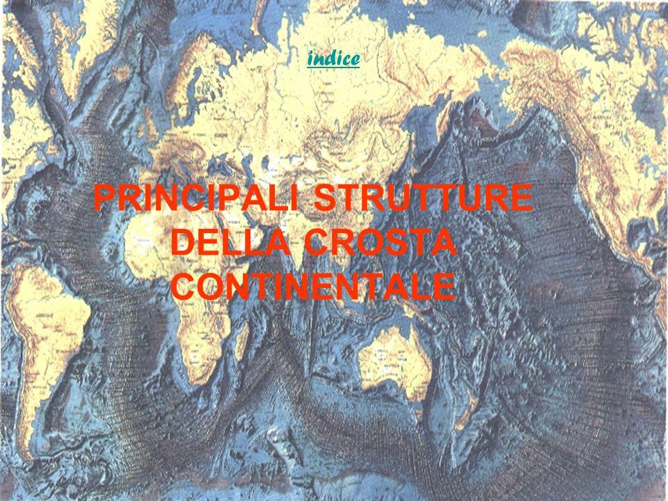 PRINCIPALI STRUTTURE DELLA CROSTA CONTINENTALE indice