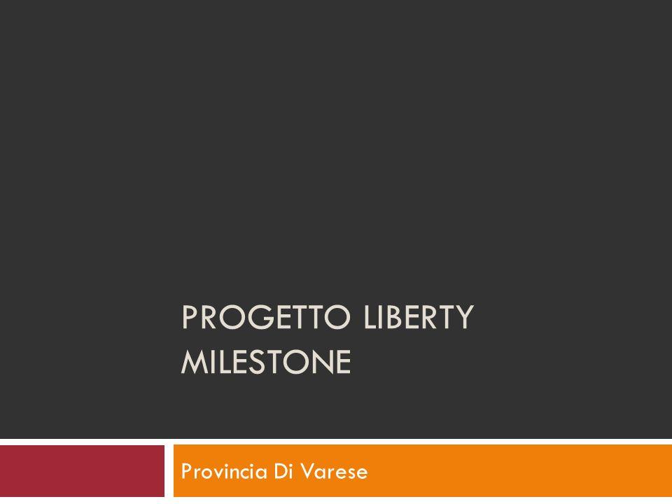 PROGETTO LIBERTY MILESTONE Provincia Di Varese