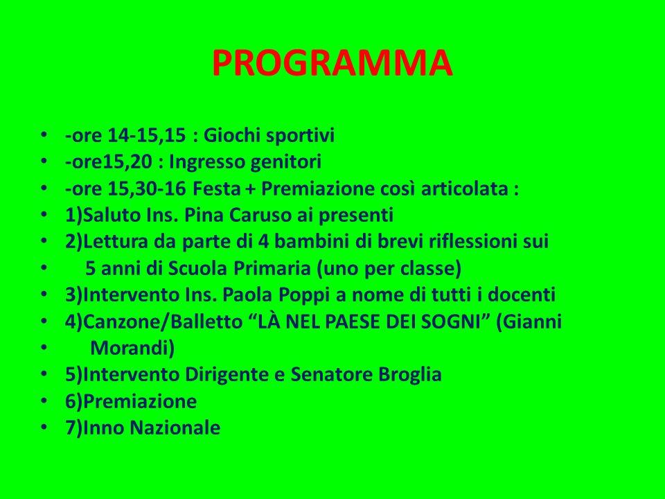Scuola Primaria G. Lodi di Crevalcore FESTA di FINE ANNO SCOLASTICO CLASSI V 20 MAGGIO 2013 di Paola e Carla Poppi