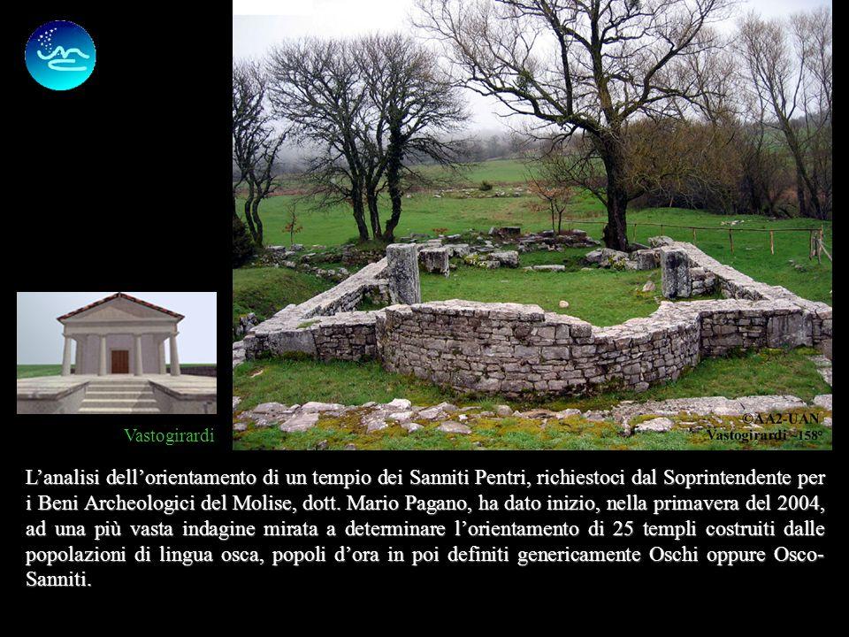 2 Lanalisi dellorientamento di un tempio dei Sanniti Pentri, richiestoci dal Soprintendente per i Beni Archeologici del Molise, dott.