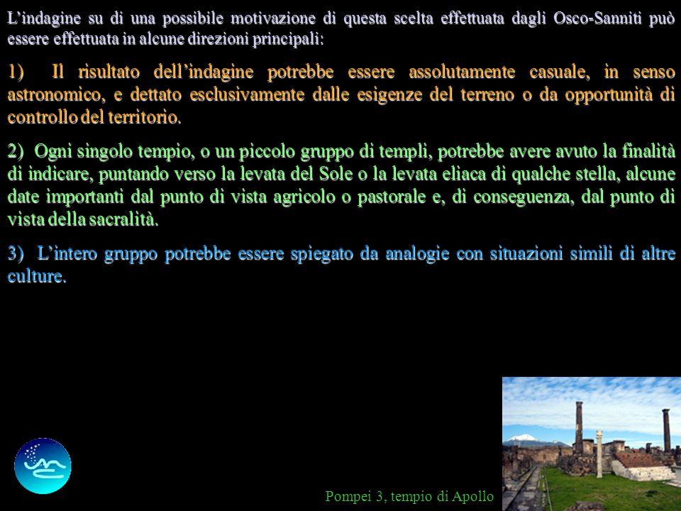 5 A titolo di confronto, possiamo osservare la disposizione di alcuni templi romani ed etruschi che risultano invece essere rivolti verso differenti p