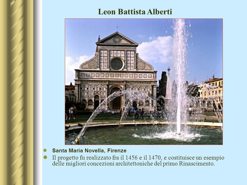 Profonde modificazioni nell architettura religiosa (passaggio dal gotico al rinascimento): Brunelleschi, L.B.