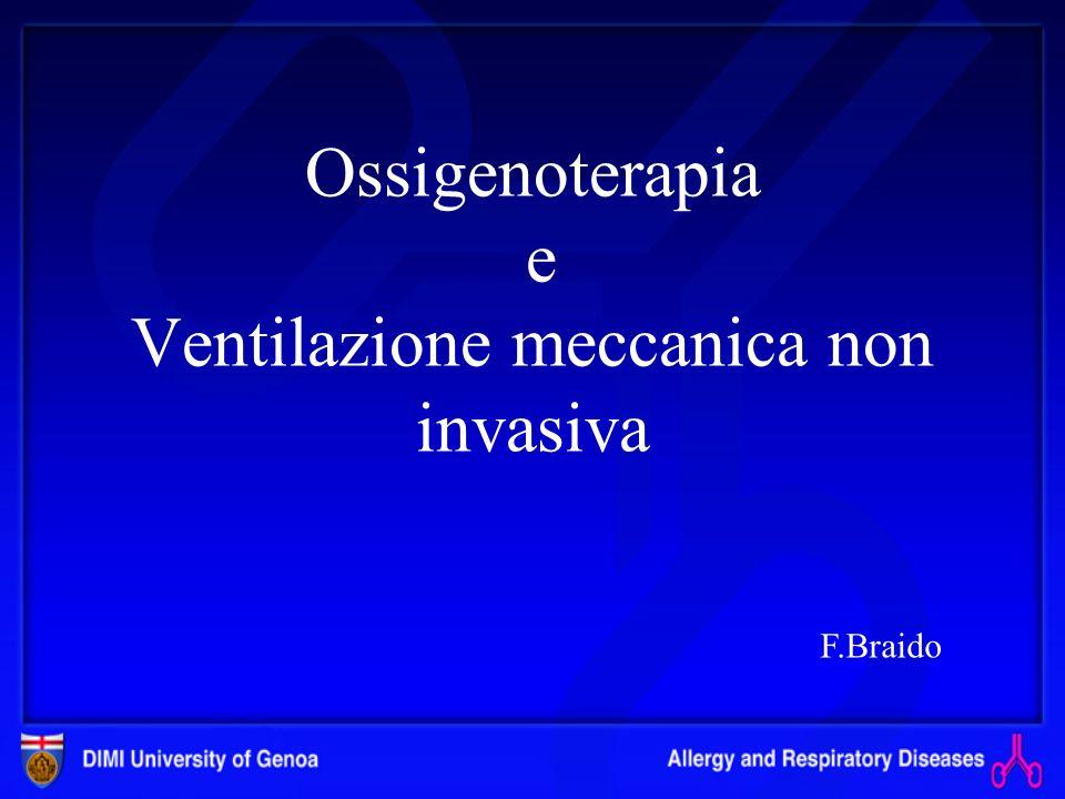 Ossigenoterapia e Ventilazione meccanica non invasiva F.Braido