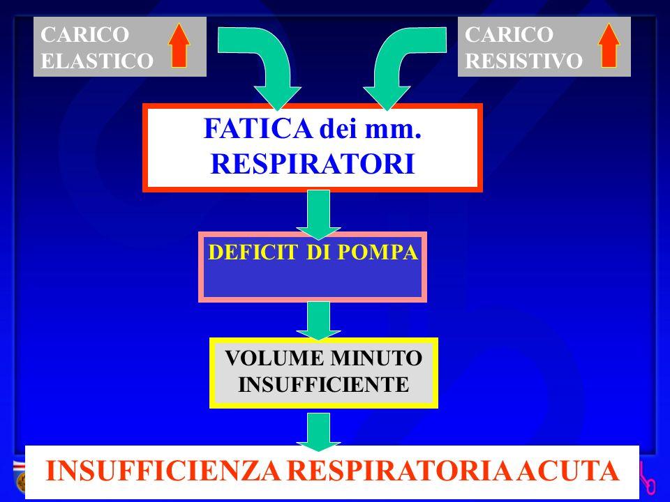 INSUFFICIENZA RESPIRATORIA I.R. PARZIALE IPOSSIEMIA (riduzione di PaO 2 ) I.R. GLOBALE IPOSSIEMIA (riduzione di PaO 2 ) + IPERCAPNIA (aumento di PaCO