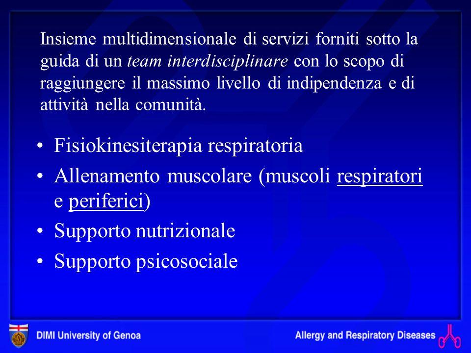 Nelle recenti linee guida GOLD levidenza scientifica della riabilitazione nella BPCO è stata definita come A, superiore a quella di farmaci comunement
