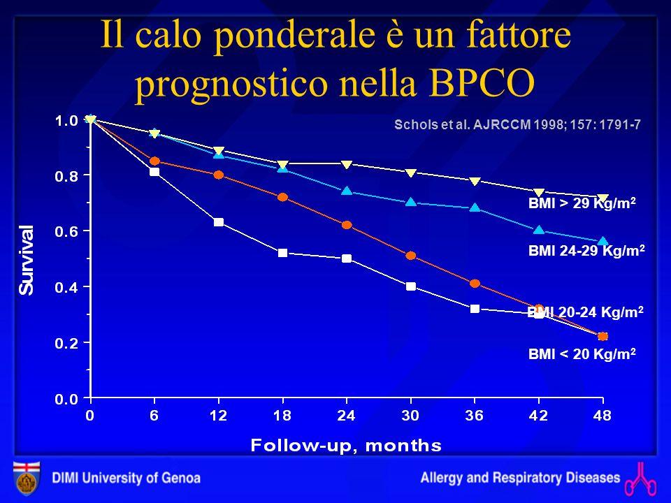 Morti per BPCO Italia 19000/anno ISTAT 1999
