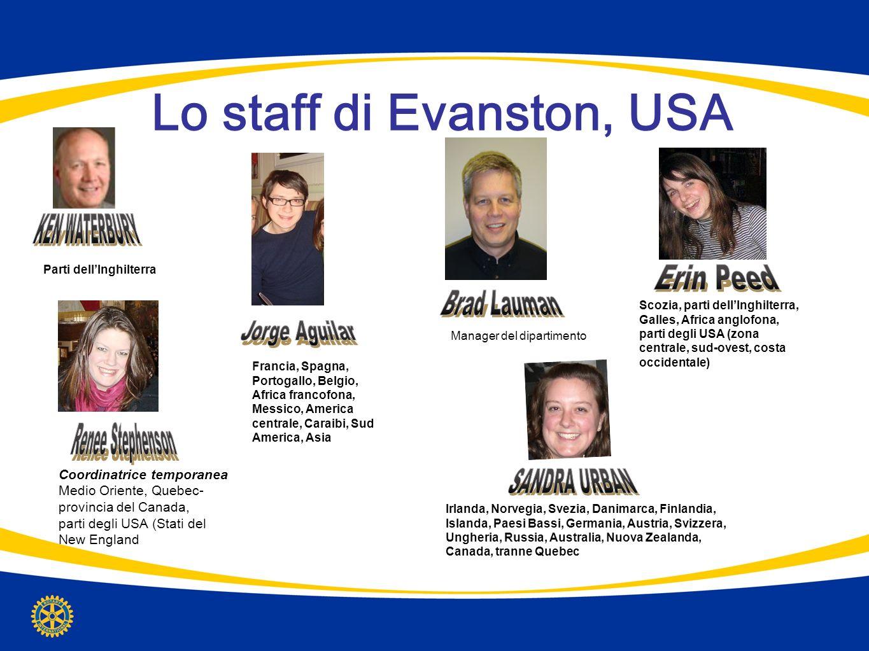 Lo staff di Evanston, USA Manager del dipartimento Parti dellInghilterra Coordinatrice temporanea Medio Oriente, Quebec- provincia del Canada, parti d