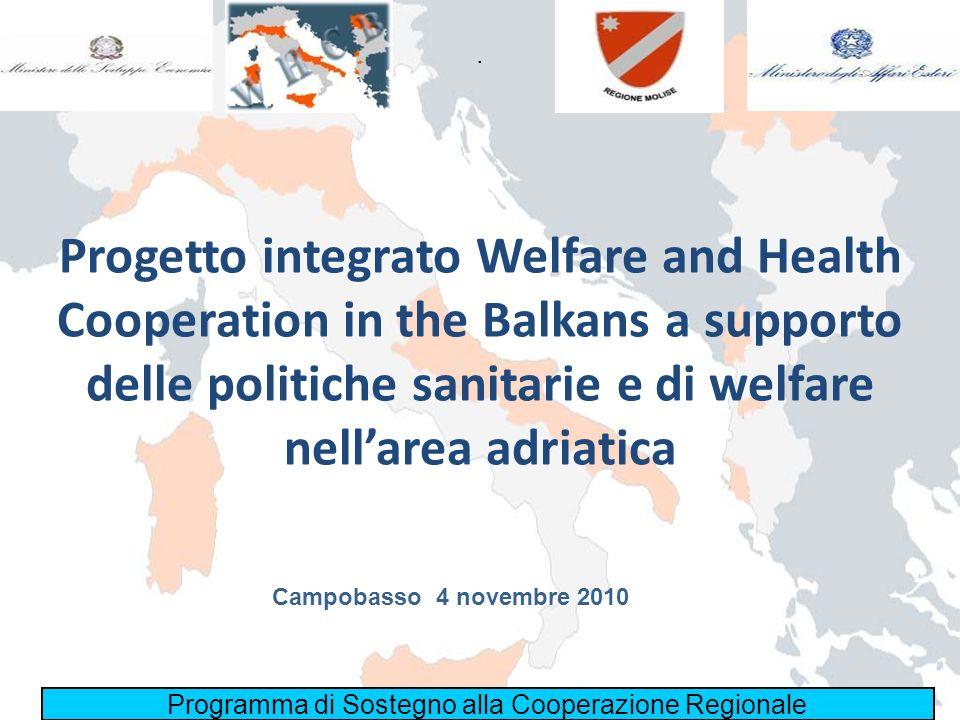 Progetto integrato Welfare and Health Cooperation in the Balkans a supporto delle politiche sanitarie e di welfare nellarea adriatica Programma di Sos