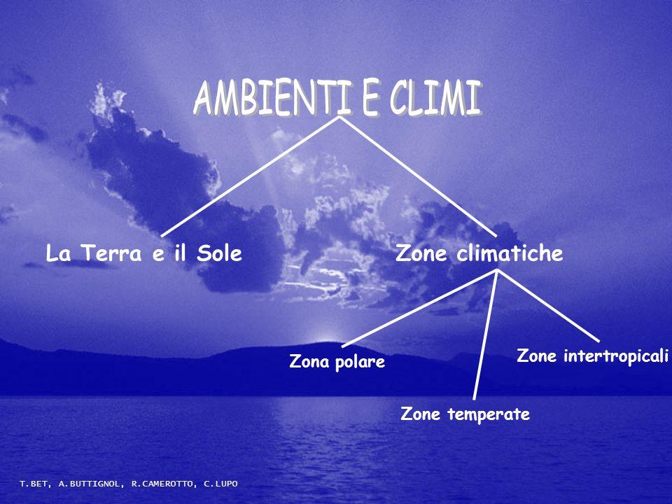Zona polare Zone temperate Zone intertropicali La Terra e il SoleZone climatiche T.BET, A.BUTTIGNOL, R.CAMEROTTO, C.LUPO