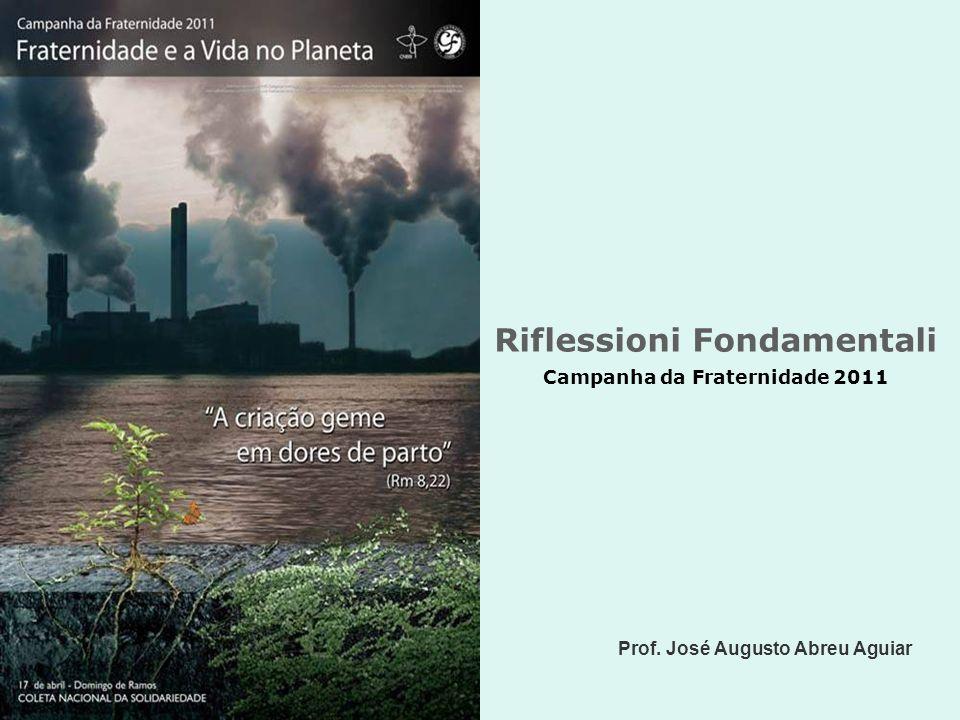 Riflessioni Fondamentali Campanha da Fraternidade 2011 Prof. José Augusto Abreu Aguiar