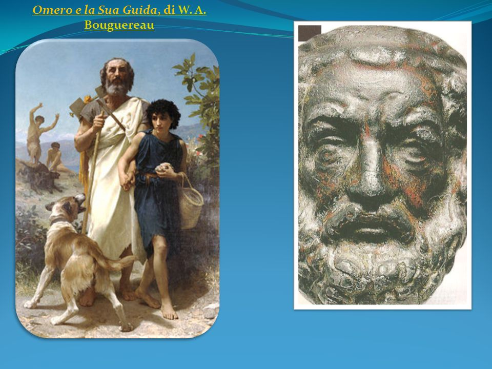 Omero e la Sua Guida, di W. A. BouguereauW. A. Bouguereau