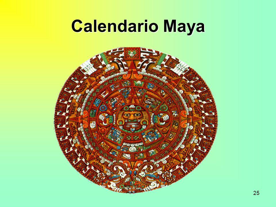 25 Calendario Maya