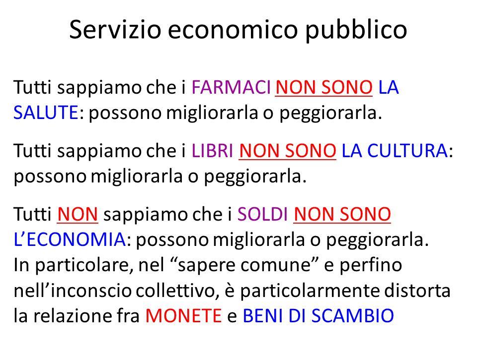 Servizio economico pubblico Tutti sappiamo che i FARMACI NON SONO LA SALUTE: possono migliorarla o peggiorarla. Tutti sappiamo che i LIBRI NON SONO LA