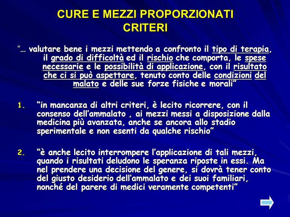 CURE E MEZZI PROPORZIONATI 3.