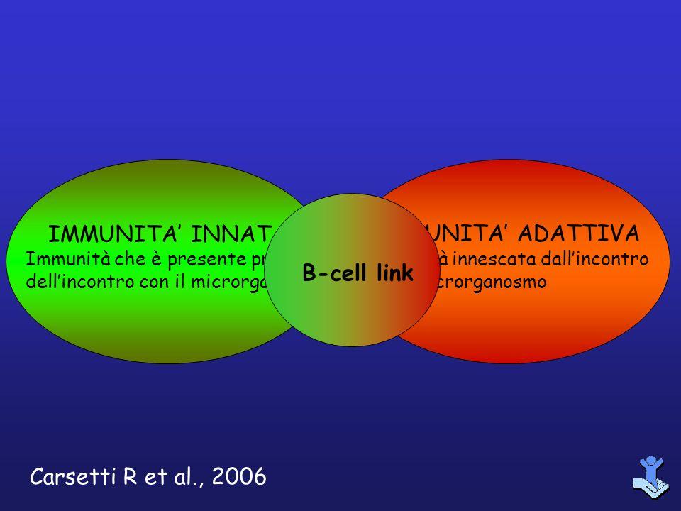 IMMUNITA INNATA Immunità che è presente prima dellincontro con il microrganismo IMMUNITA ADATTIVA Immunità innescata dallincontro con il microrganosmo