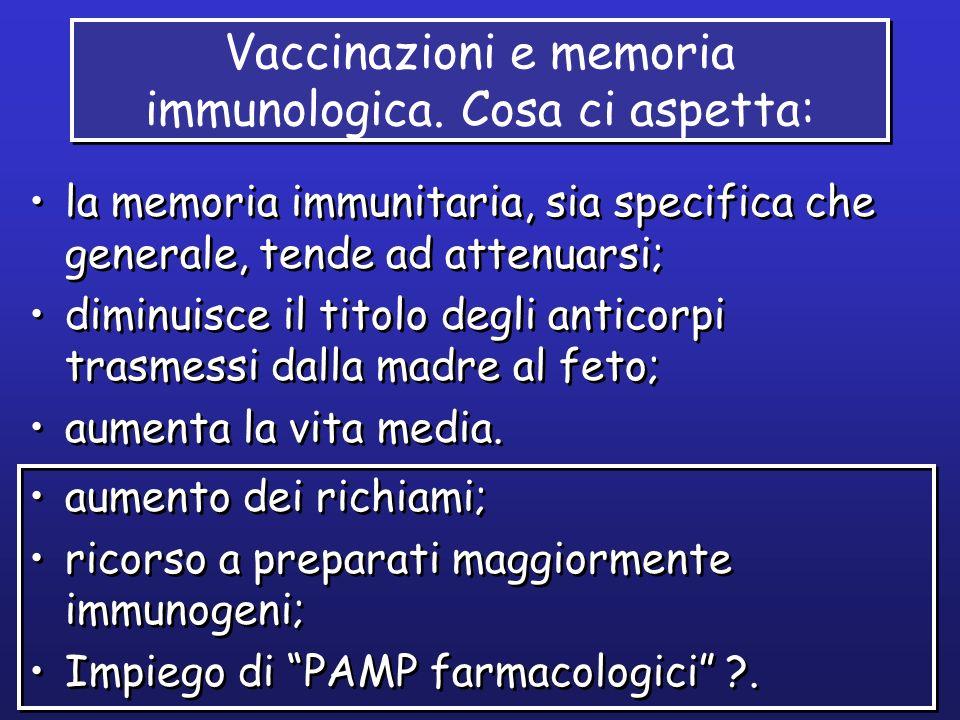 Vaccinazioni e memoria immunologica. Cosa ci aspetta: la memoria immunitaria, sia specifica che generale, tende ad attenuarsi; diminuisce il titolo de