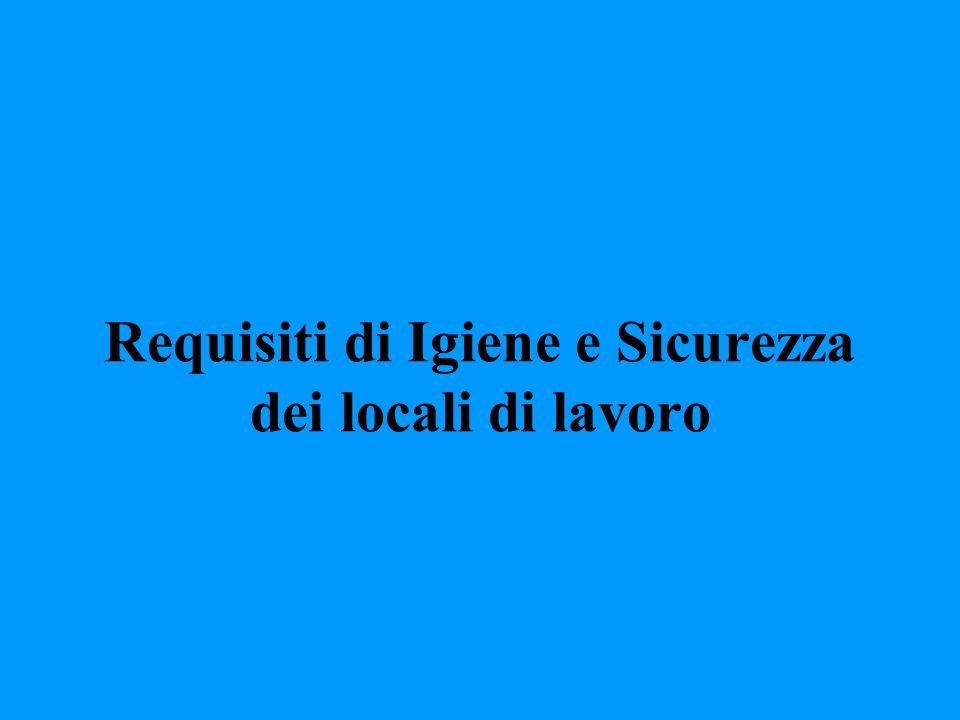 Requisiti di Igiene e Sicurezza dei locali di lavoro