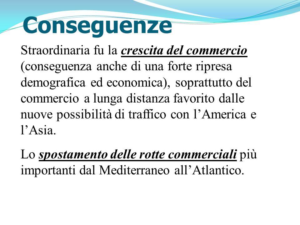 Conseguenze Straordinaria fu la crescita del commercio (conseguenza anche di una forte ripresa demografica ed economica), soprattutto del commercio a
