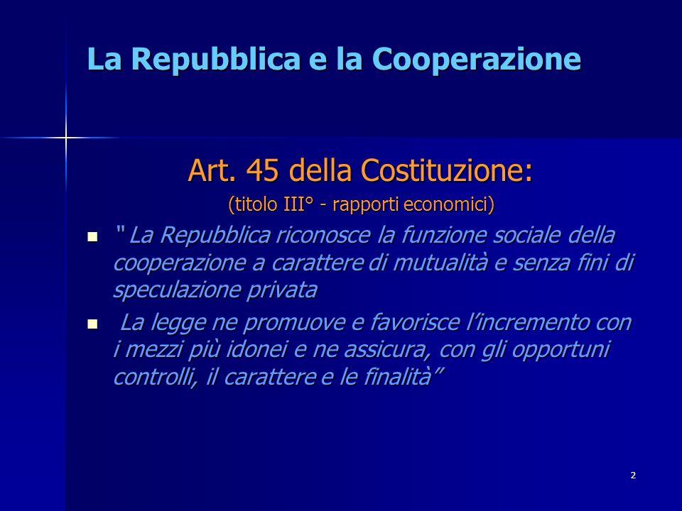 2 La Repubblica e la Cooperazione Art.