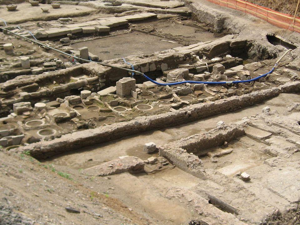 3 Ritrovamenti archeologici (fullonica) di maggio/giugno 2007 nell'area del cantiere di Casal Bertone vedute panoramiche dell'area archeologica