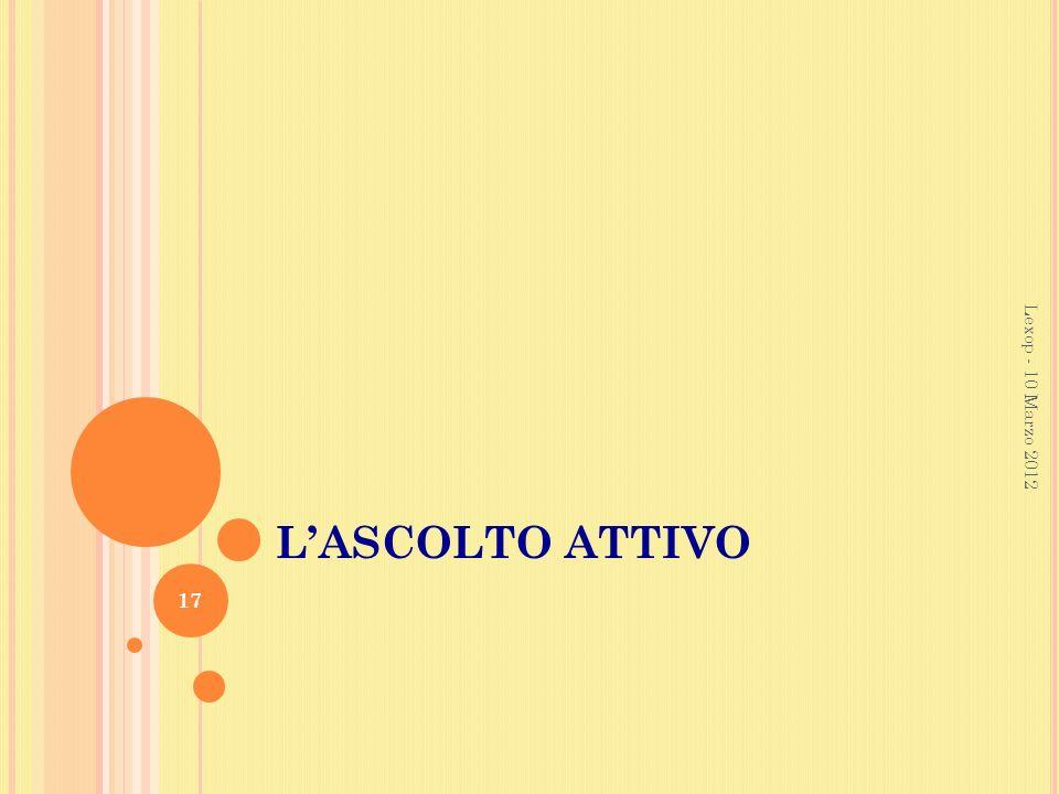 LASCOLTO ATTIVO Lexop - 10 Marzo 2012 17