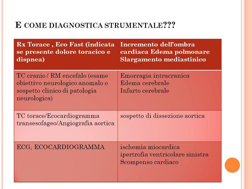 E COME DIAGNOSTICA STRUMENTALE ???