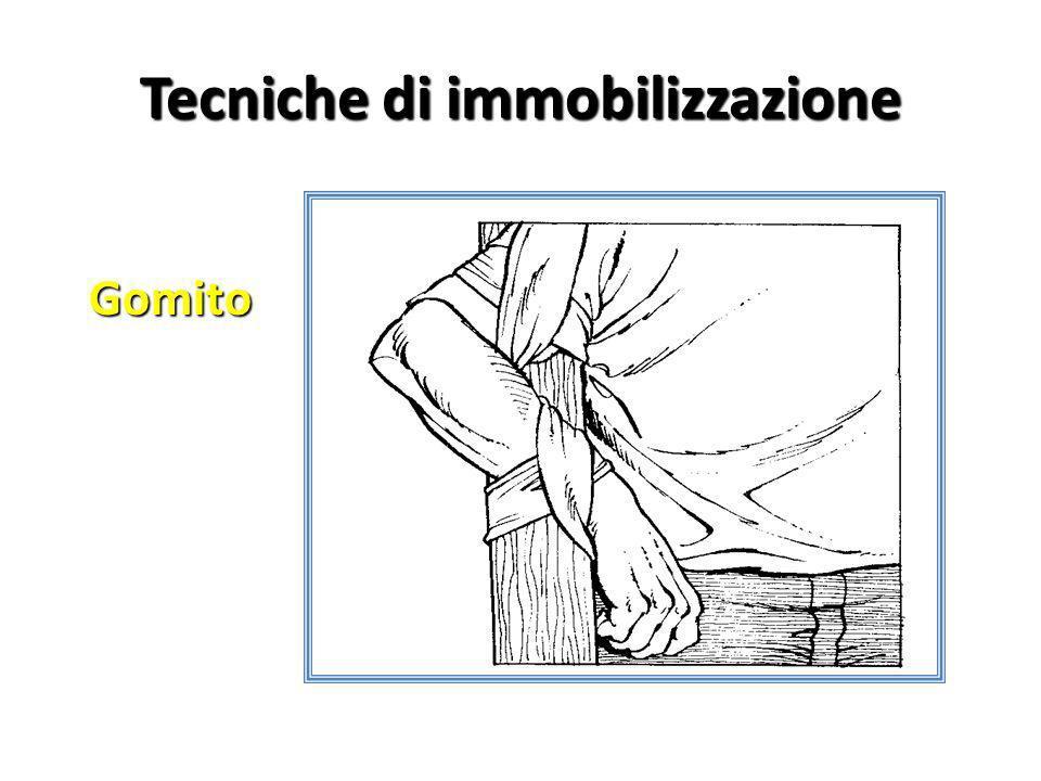 Tecniche di immobilizzazione Gomito