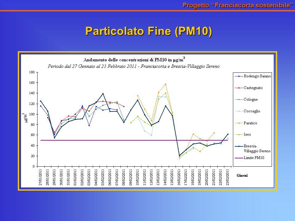 Progetto Franciacorta sostenibile Particolato Fine (PM10)