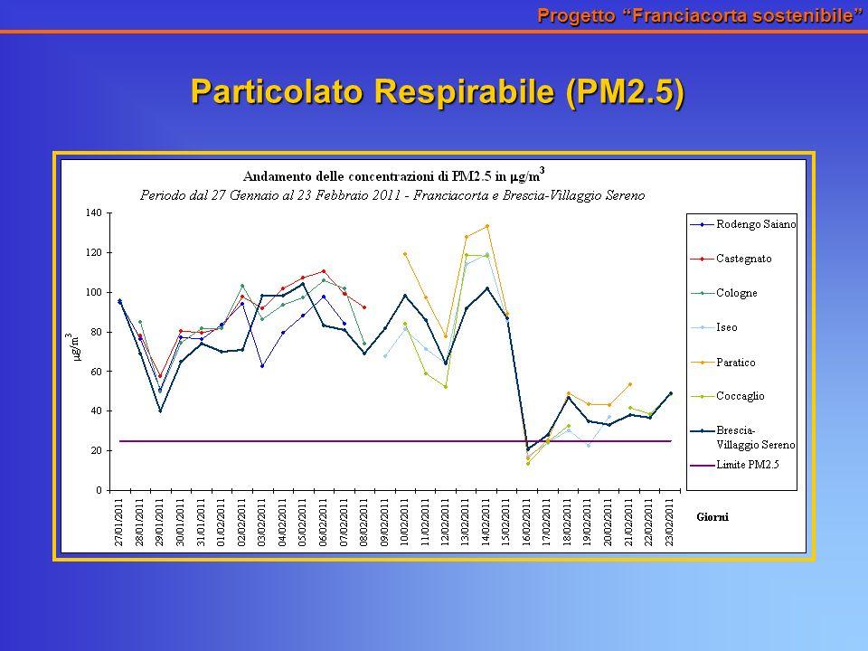 Progetto Franciacorta sostenibile Particolato Respirabile (PM2.5)