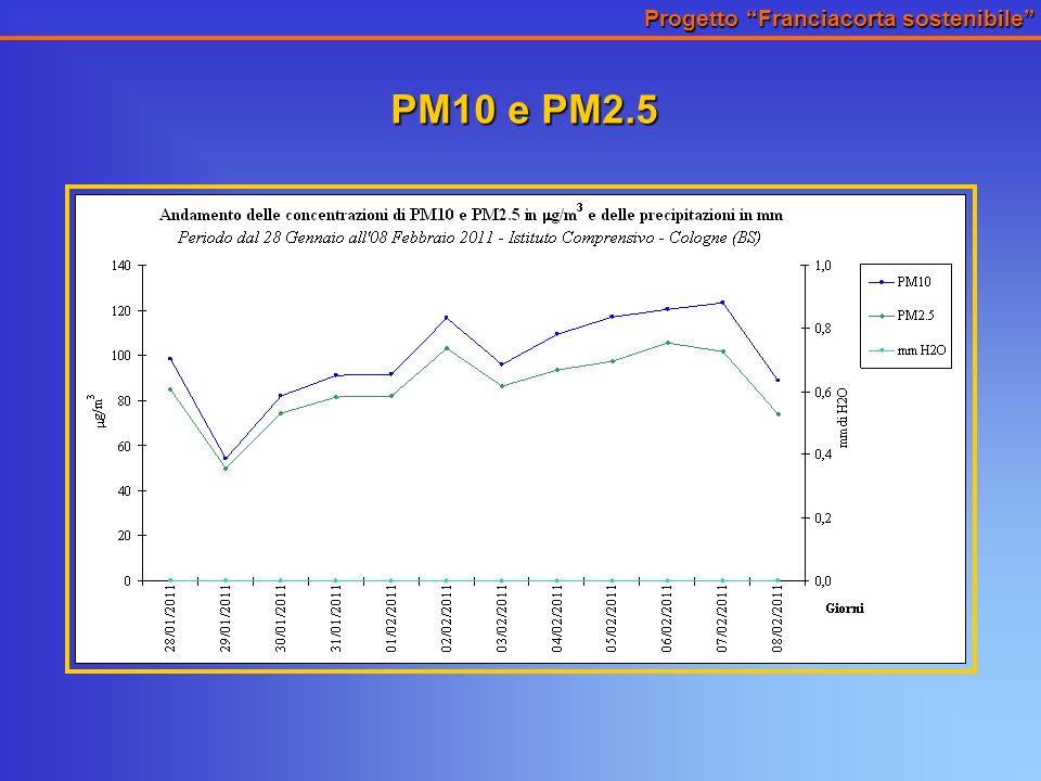 Progetto Franciacorta sostenibile PM10 e PM2.5