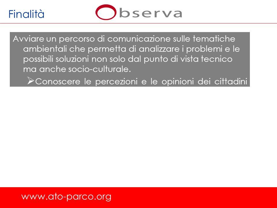 www.ato-parco.org 2.Limpegno di enti e istituzioni nella salvaguardia dellambiente GLI ATTORI VISIBILITA DEGLI ATTORI