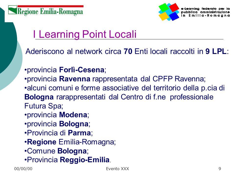 00/00/00Evento XXX10 Self – Dallesperienza e-learning alla integrazione con la formazione interna