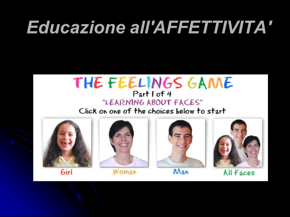 Educazione all'AFFETTIVITA'