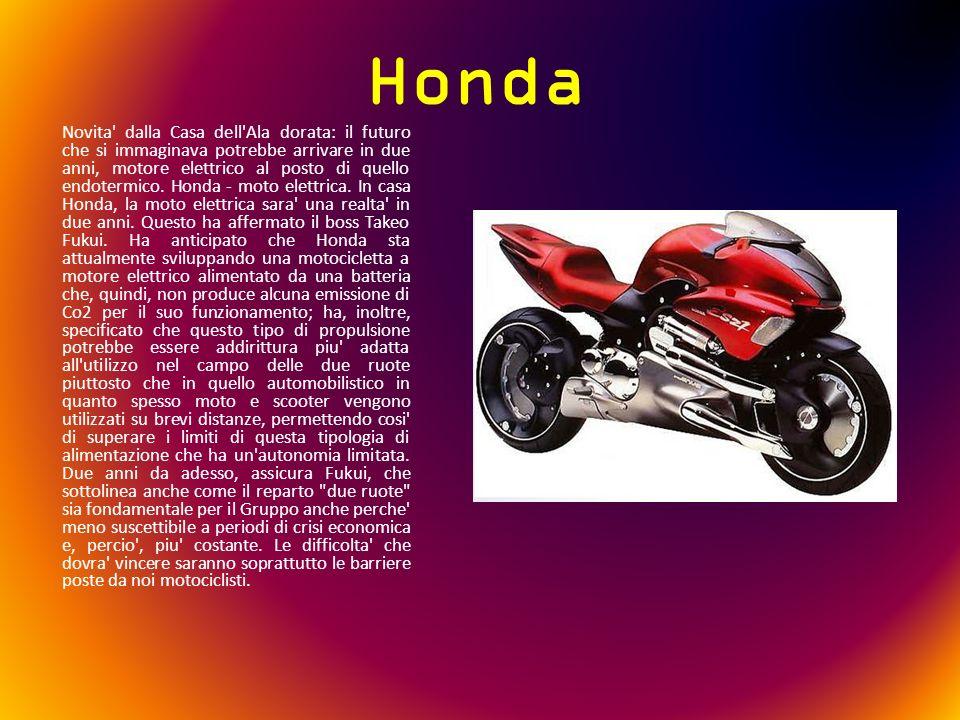 Honda Novita' dalla Casa dell'Ala dorata: il futuro che si immaginava potrebbe arrivare in due anni, motore elettrico al posto di quello endotermico.