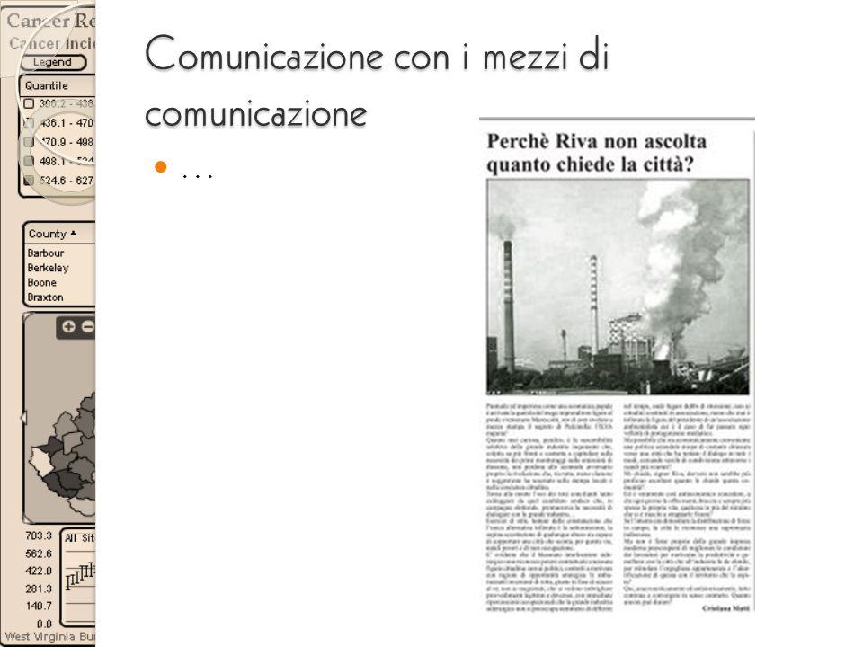 Comunicazione con i mezzi di comunicazione …