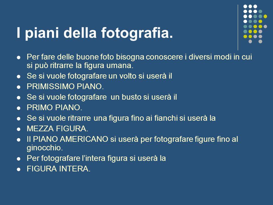 I piani della fotografia. Per fare delle buone foto bisogna conoscere i diversi modi in cui si può ritrarre la figura umana. Se si vuole fotografare u