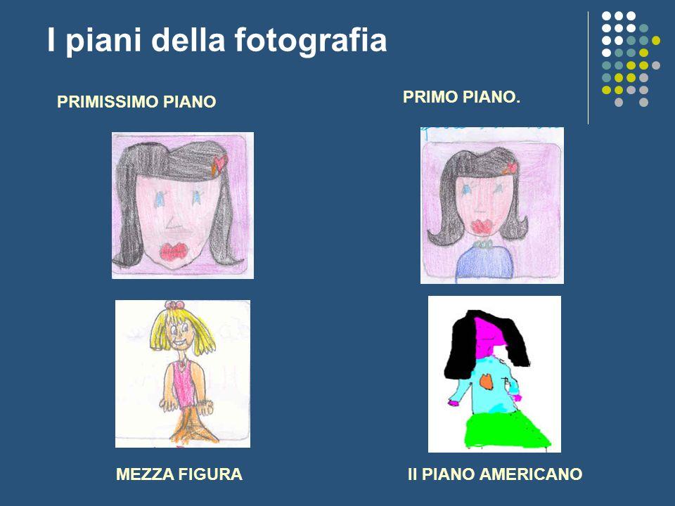 I piani della fotografia PRIMISSIMO PIANO PRIMO PIANO. MEZZA FIGURAIl PIANO AMERICANO