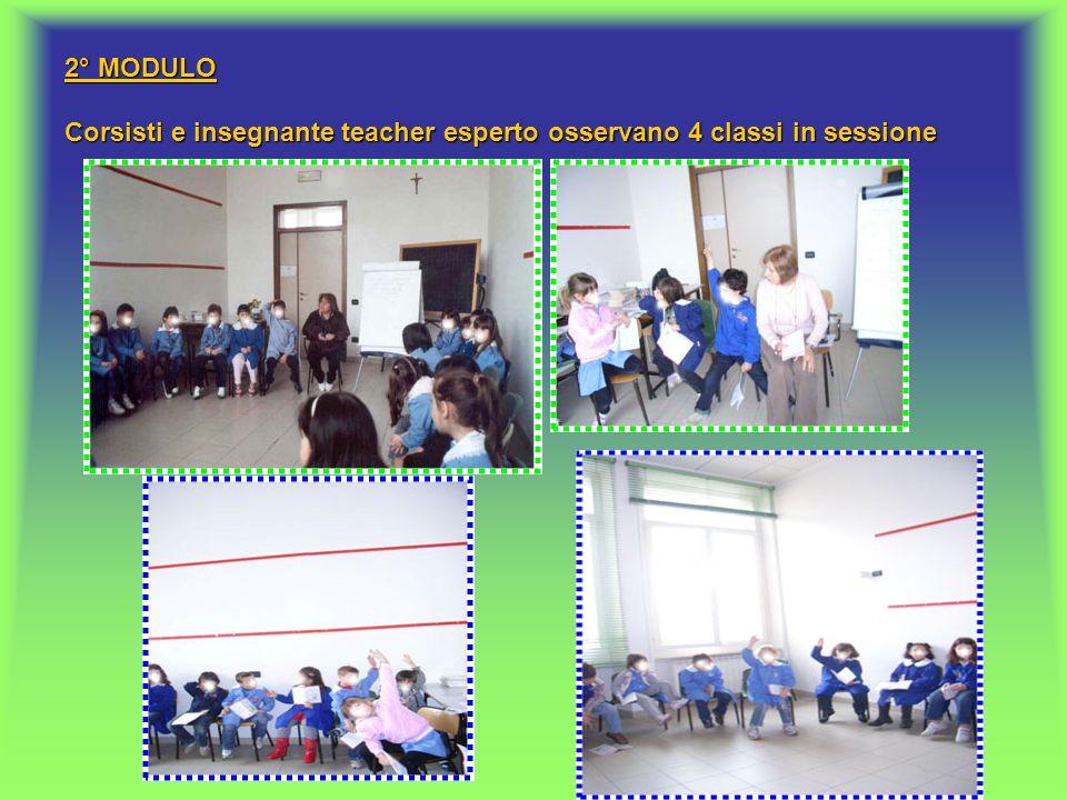 3° – 4° MODULO I corsisti (affiancati dal teacher esperto) provano a facilitare sessioni con i ragazzi.