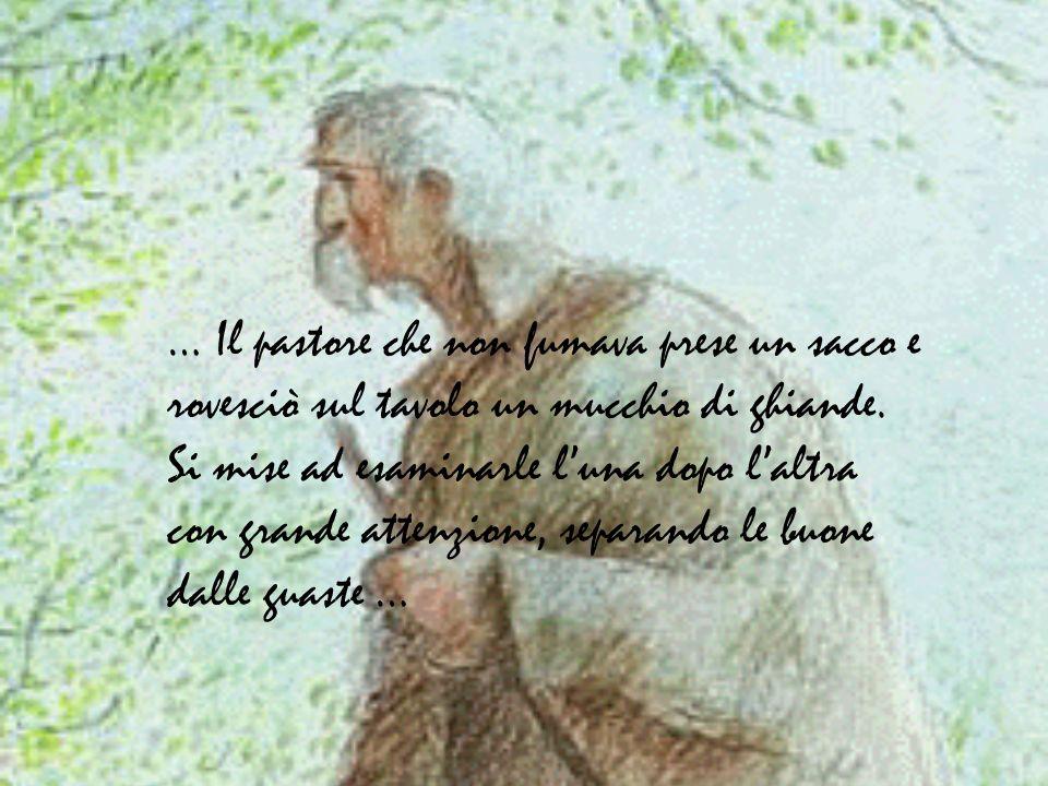 … Quando infine ebbe davanti a sé cento ghiande perfette, si fermò …