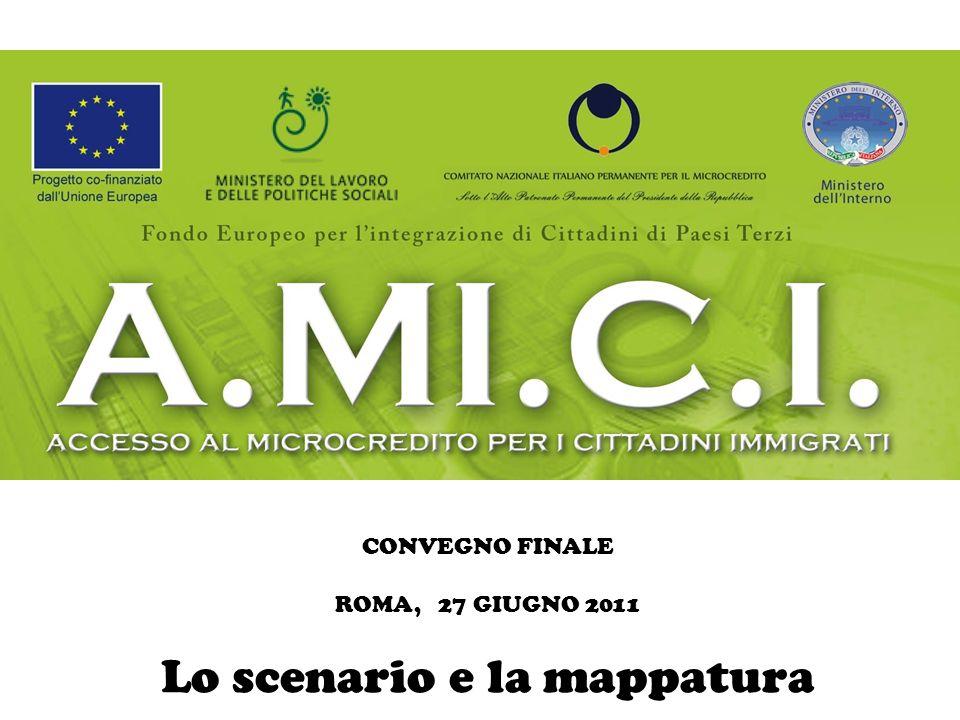 CONVEGNO FINALE ROMA, 27 GIUGNO 2011 Lo scenario e la mappatura