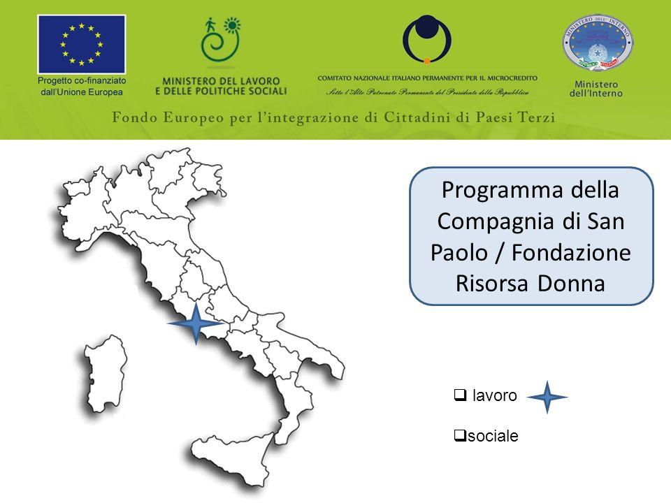 Programma della Compagnia di San Paolo / Fondazione Risorsa Donna lavoro sociale