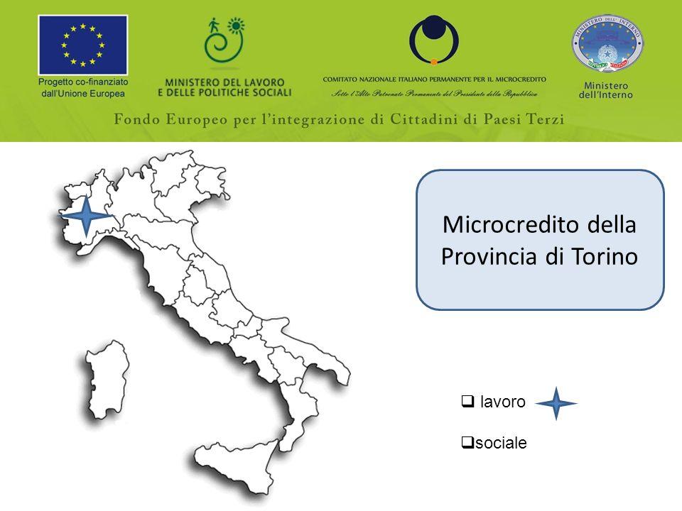 Microcredito della Provincia di Torino lavoro sociale