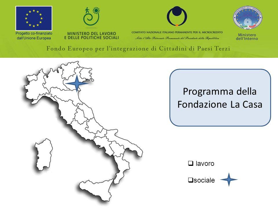 Programma della Fondazione La Casa lavoro sociale