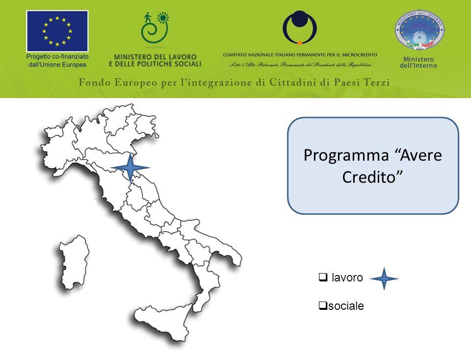 Programma Avere Credito lavoro sociale